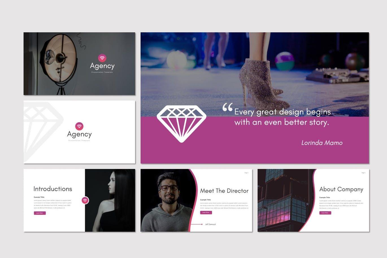 Agency - Google Slides Template, Slide 2, 07663, Presentation Templates — PoweredTemplate.com