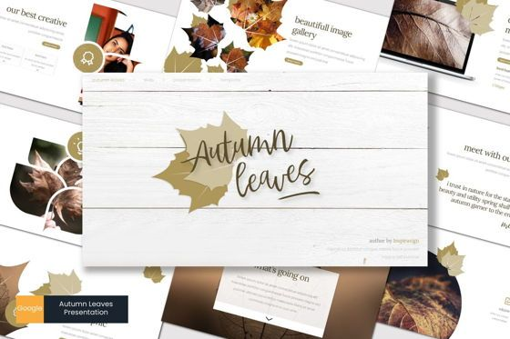 Presentation Templates: Autumn Leaves - Google Slides Template #07665