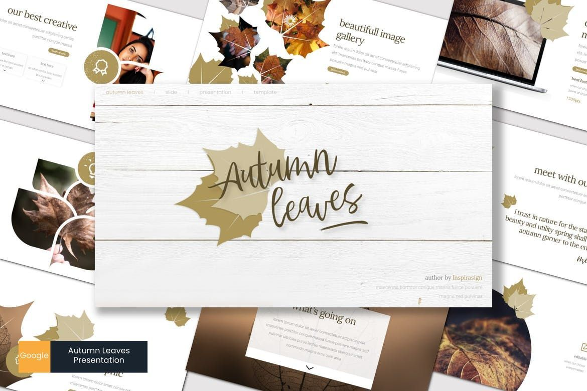Autumn Leaves - Google Slides Template, 07665, Presentation Templates — PoweredTemplate.com