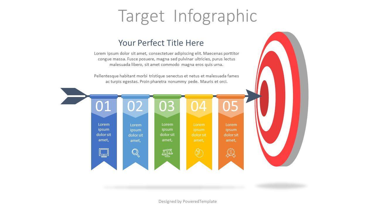 Hitting Target Infographic, 07666, Process Diagrams — PoweredTemplate.com