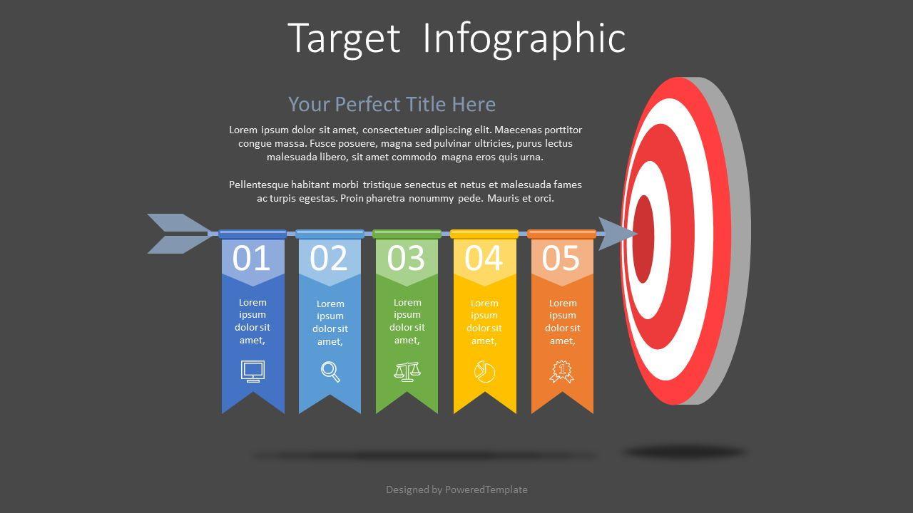 Hitting Target Infographic, Slide 2, 07666, Process Diagrams — PoweredTemplate.com
