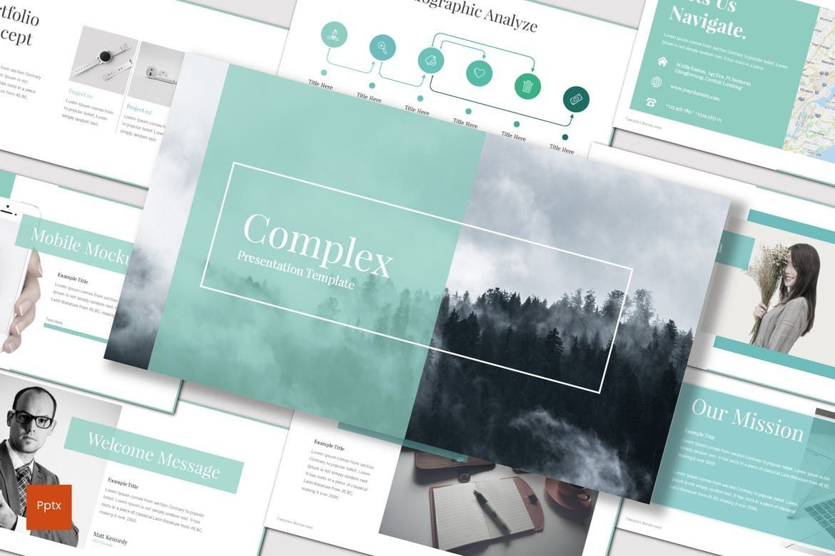 Complex - PowerPoint Template, 07668, Presentation Templates — PoweredTemplate.com