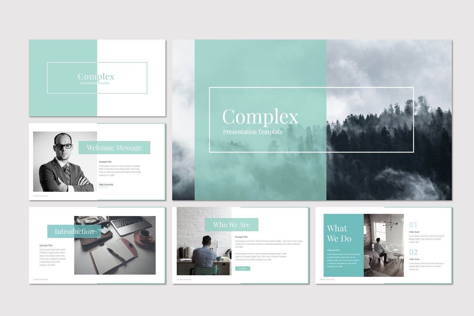 Complex - PowerPoint Template, Slide 2, 07668, Presentation Templates — PoweredTemplate.com