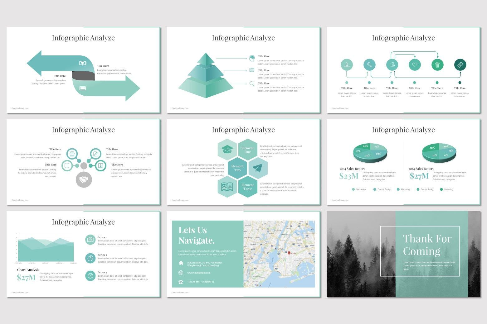 Complex - PowerPoint Template, Slide 5, 07668, Presentation Templates — PoweredTemplate.com