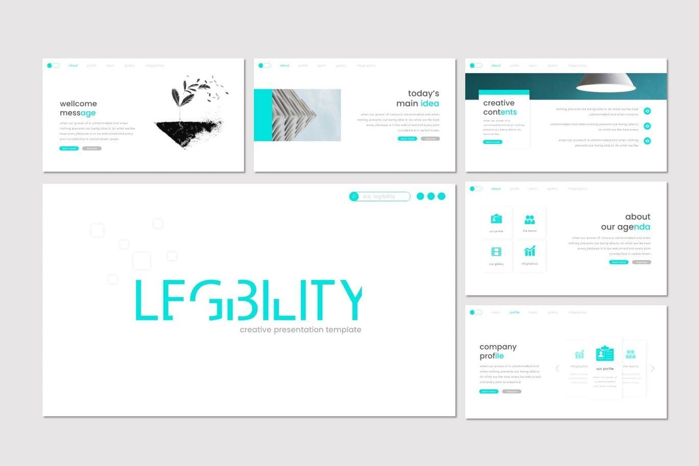 Legibility - Keynote Template, Slide 2, 07669, Presentation Templates — PoweredTemplate.com