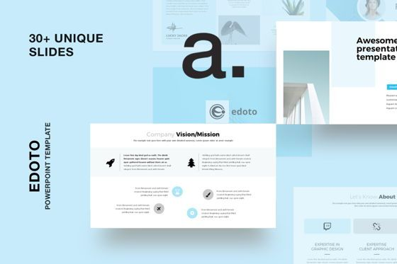 Presentation Templates: Edoto Business Powerpoint Presentation Template #07671