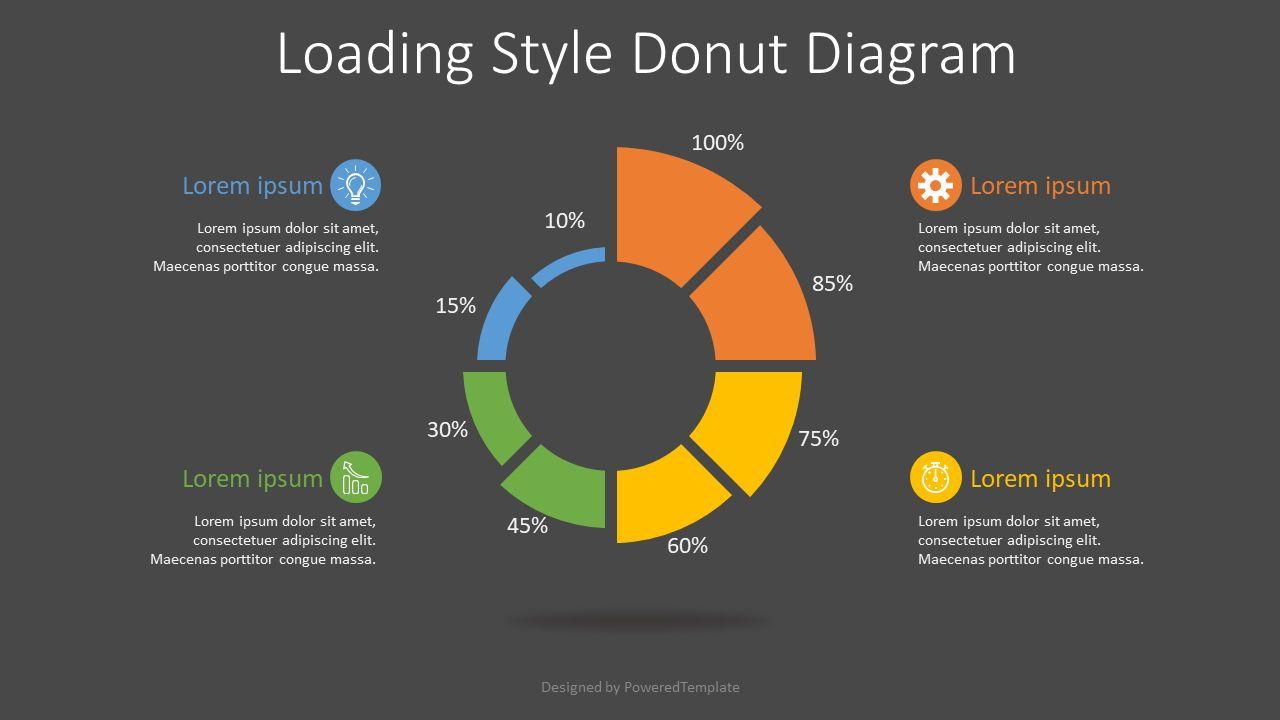 Loading Style Donut Diagram, Slide 2, 07674, Infographics — PoweredTemplate.com