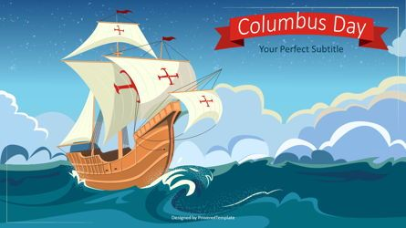 Presentation Templates: Happy Columbus Day Concept #07675
