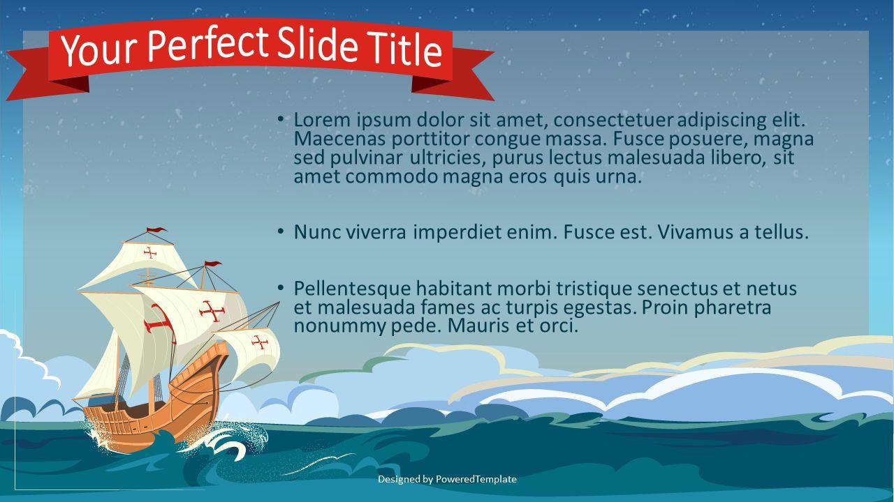 Happy Columbus Day Concept, Slide 2, 07675, Presentation Templates — PoweredTemplate.com
