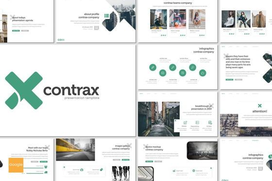 Presentation Templates: Contrax - Google Slides Template #07676