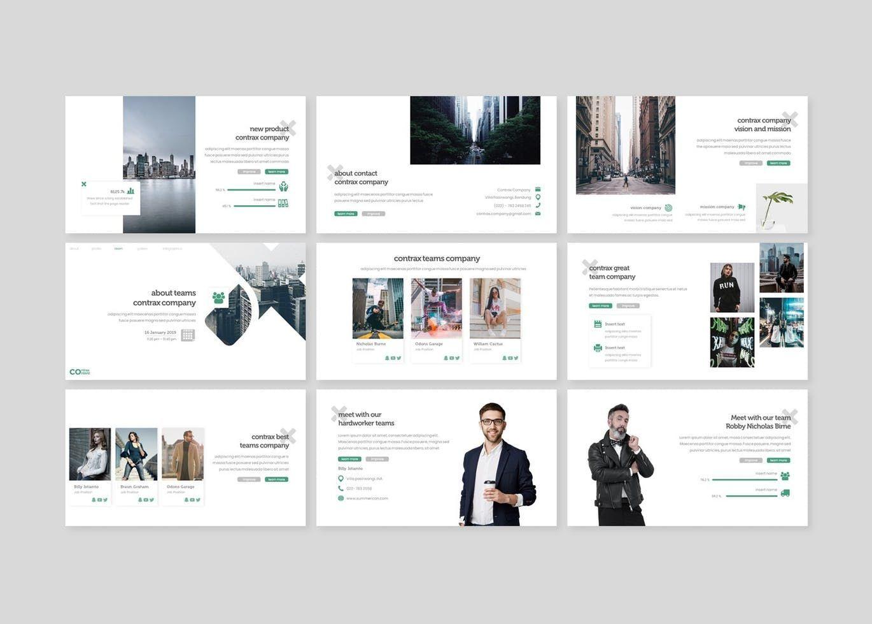 Contrax - Google Slides Template, Slide 3, 07676, Presentation Templates — PoweredTemplate.com