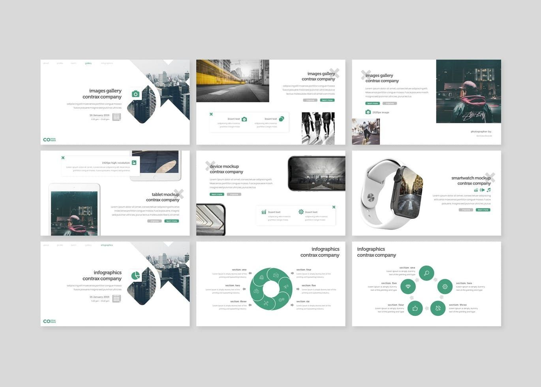 Contrax - Google Slides Template, Slide 4, 07676, Presentation Templates — PoweredTemplate.com