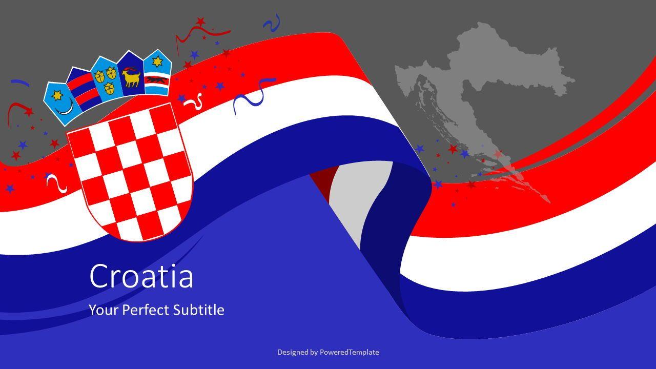 Festive Flag of Croatia Cover Slide, Slide 2, 07679, Presentation Templates — PoweredTemplate.com