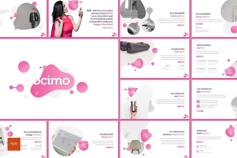 Docimo - PowerPoint Template, 07682, Presentation Templates — PoweredTemplate.com