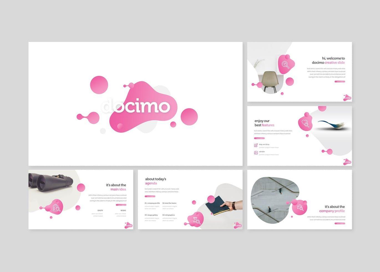 Docimo - PowerPoint Template, Slide 2, 07682, Presentation Templates — PoweredTemplate.com