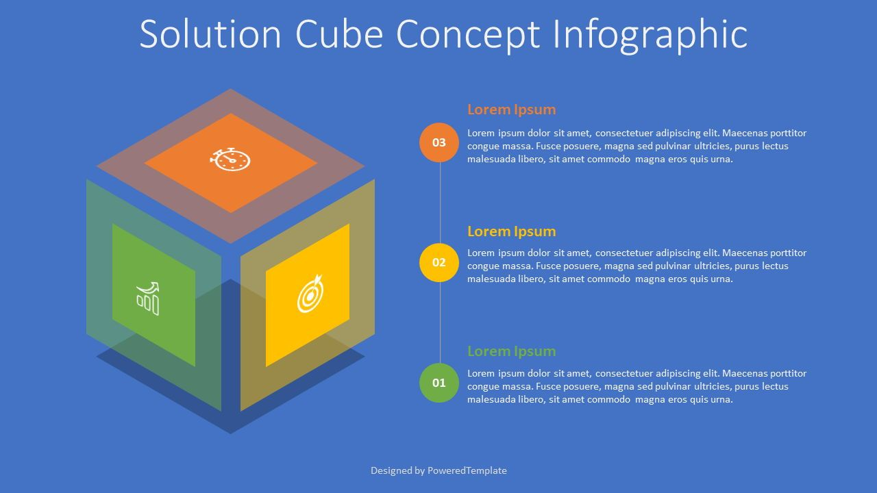 Solution Cube Concept Infographic, 07683, Infographics — PoweredTemplate.com