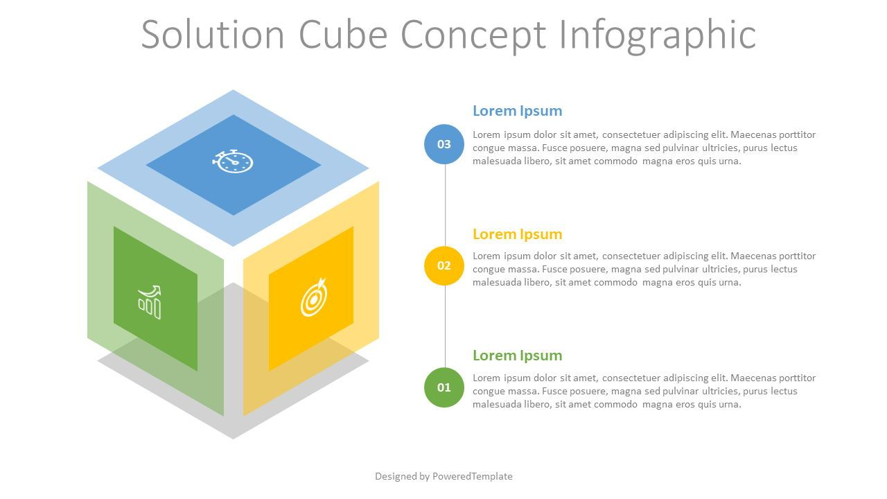 Solution Cube Concept Infographic, Slide 2, 07683, Infographics — PoweredTemplate.com