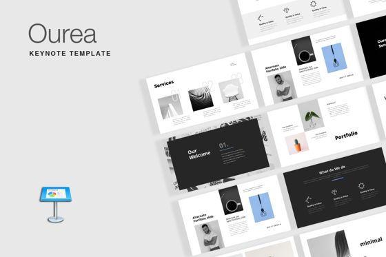 Presentation Templates: Ourea Minimal Keynote Template #07685