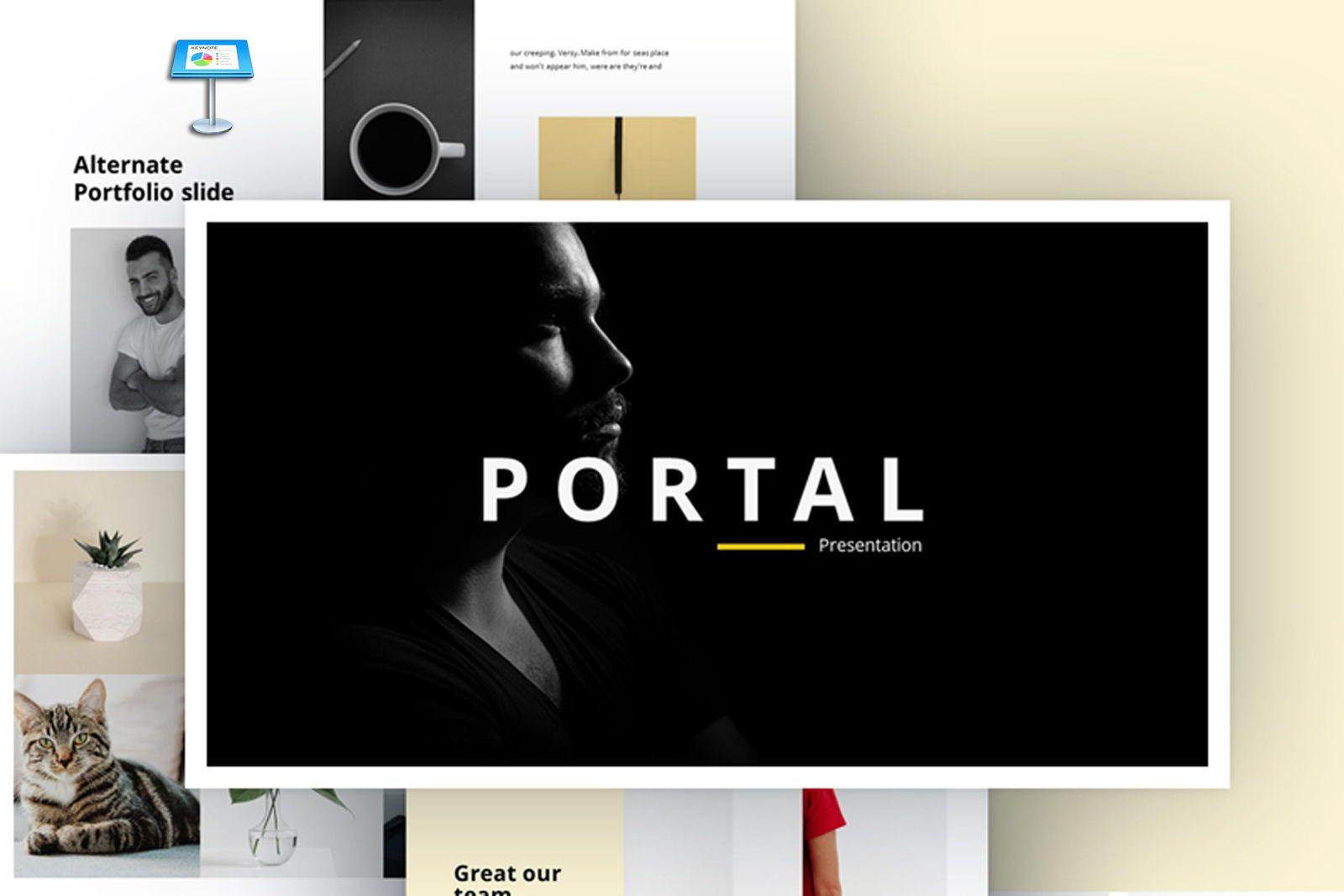 Portal Keynote Template, 07686, Presentation Templates — PoweredTemplate.com