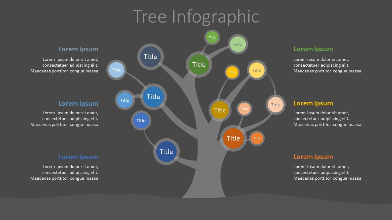 Tree Mind Map Infographic, Slide 2, 07687, Infographics — PoweredTemplate.com