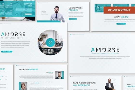 Presentation Templates: Amorse - Powerpoint Template #07691