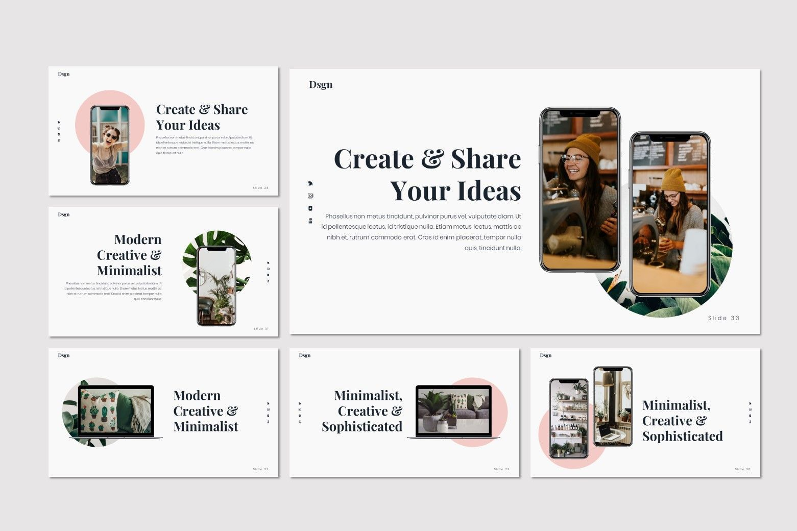 Dsgn - Keynote Template, Slide 7, 07693, Presentation Templates — PoweredTemplate.com
