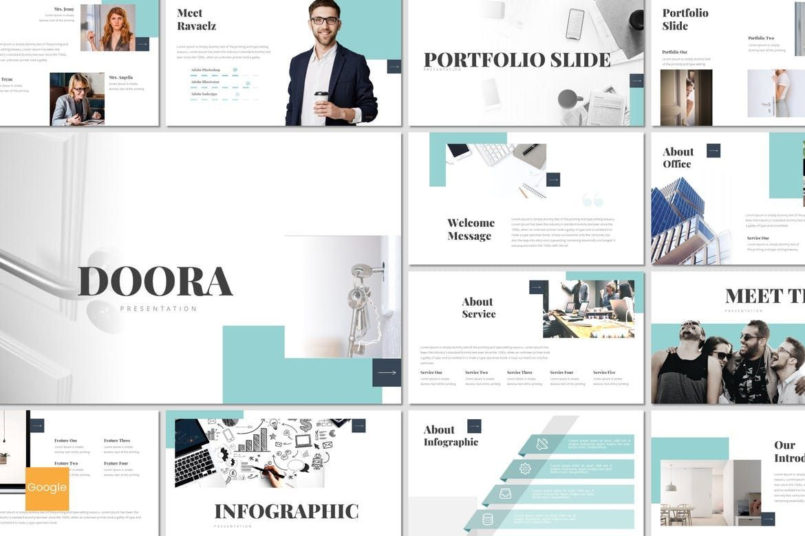 Doora - Google Slides Template, 07695, Presentation Templates — PoweredTemplate.com