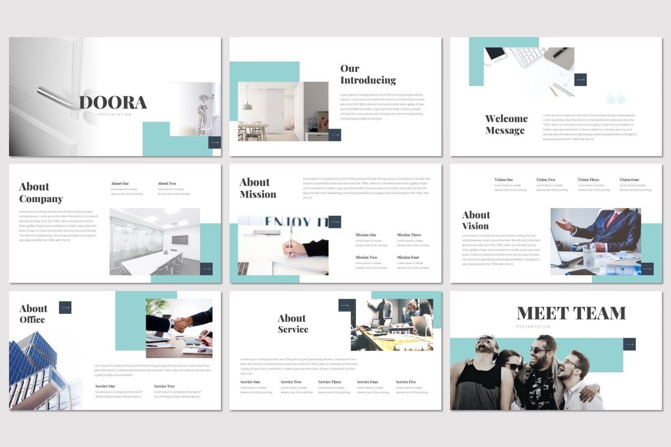 Doora - Google Slides Template, Slide 2, 07695, Presentation Templates — PoweredTemplate.com
