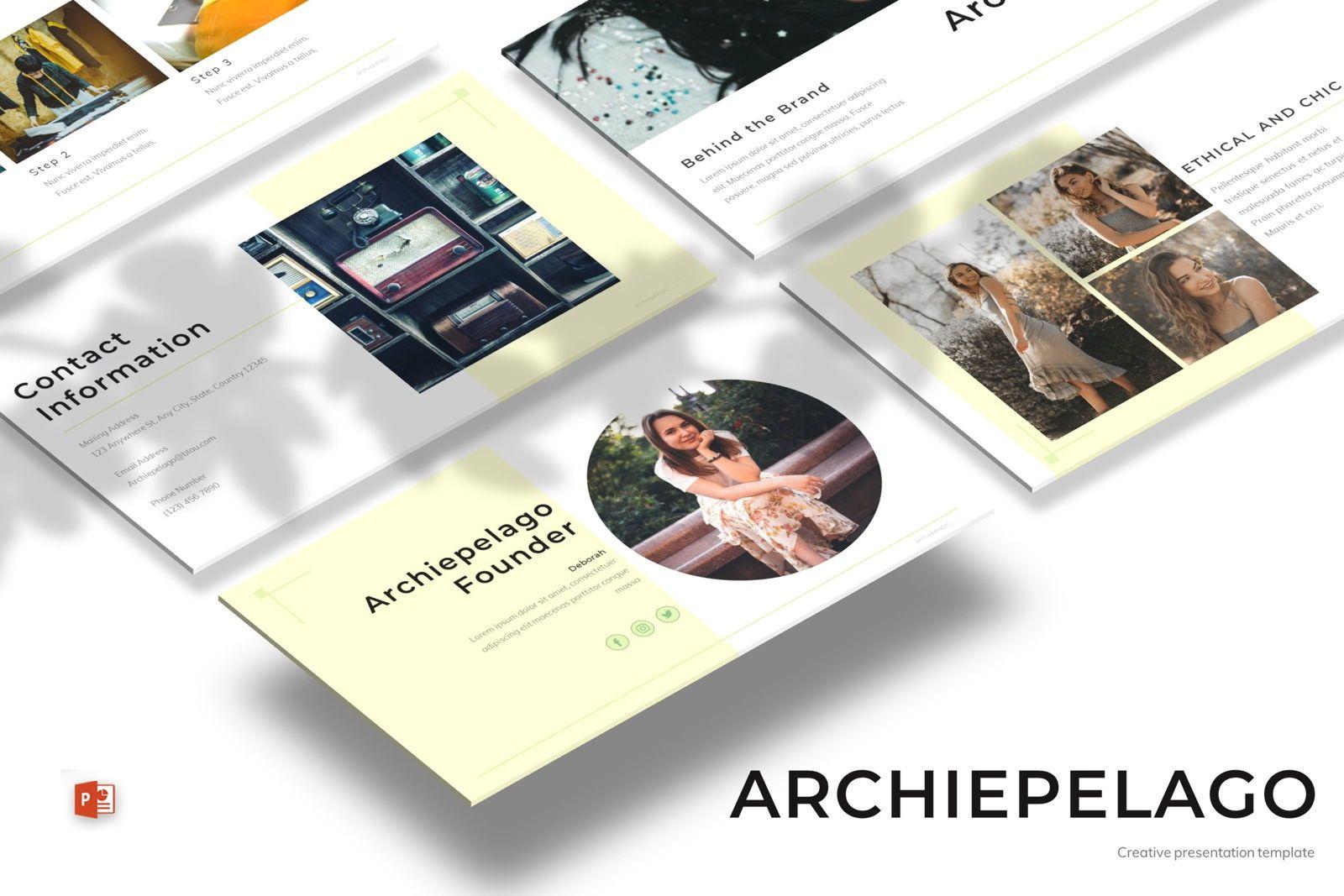 Archiepelago - Powerpoint Template, 07697, Presentation Templates — PoweredTemplate.com