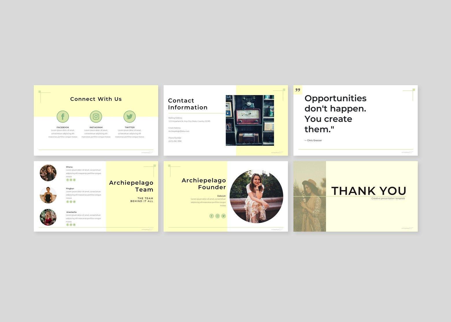 Archiepelago - Powerpoint Template, Slide 5, 07697, Presentation Templates — PoweredTemplate.com