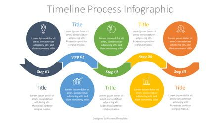 Process Diagrams: Timeline Process Infographic #07698