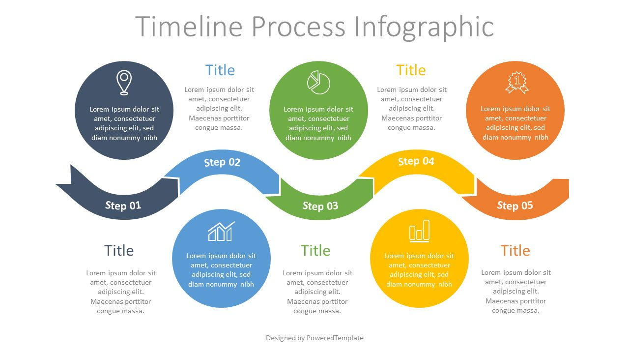 Timeline Process Infographic, 07698, Process Diagrams — PoweredTemplate.com
