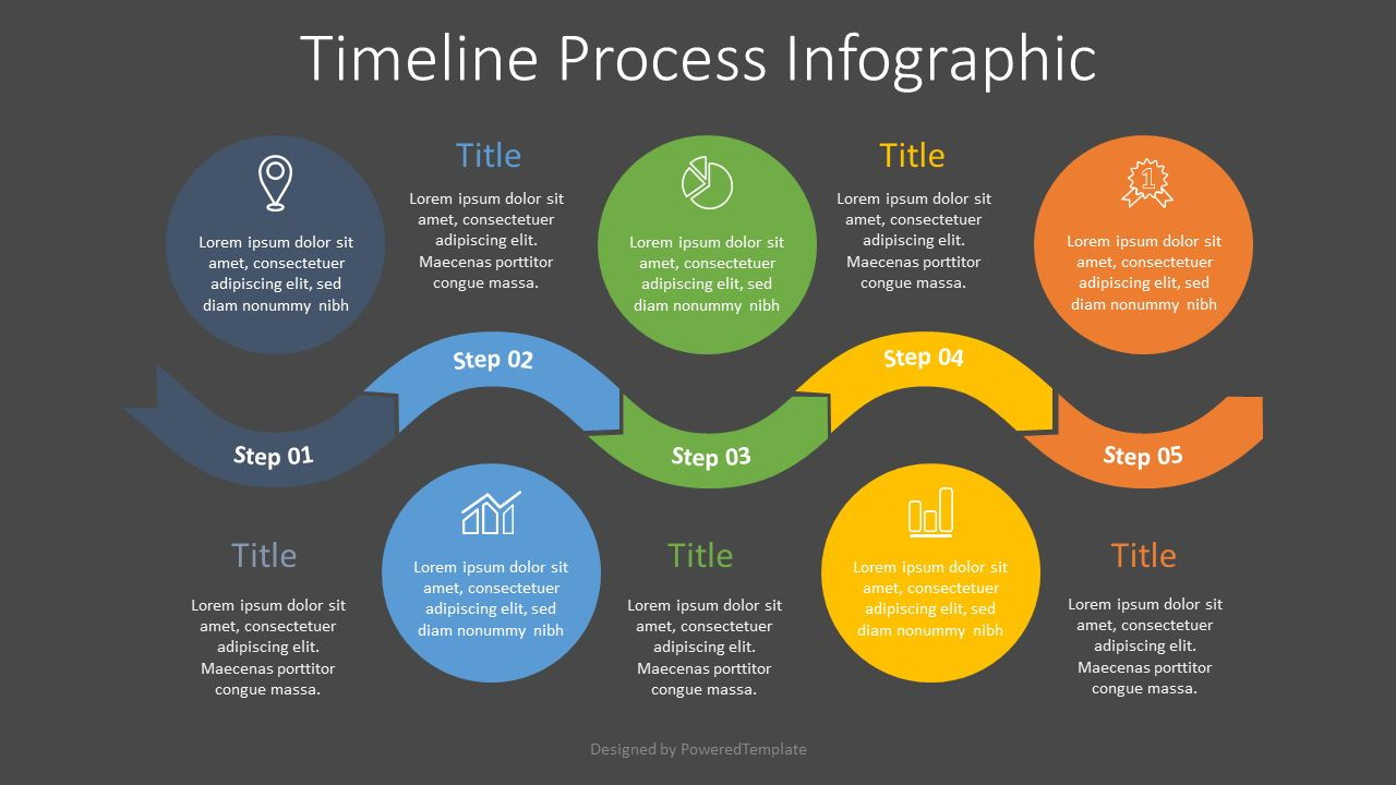 Timeline Process Infographic, Slide 2, 07698, Process Diagrams — PoweredTemplate.com
