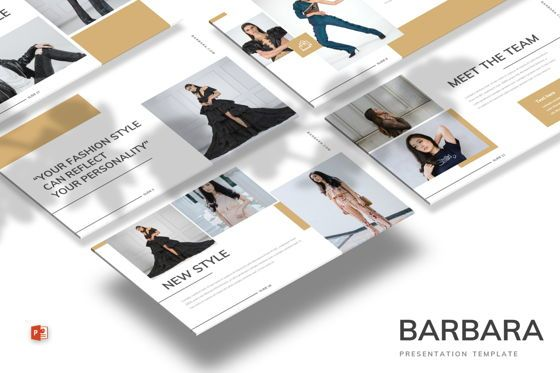 Presentation Templates: Barbara - Powerpoint Template #07699