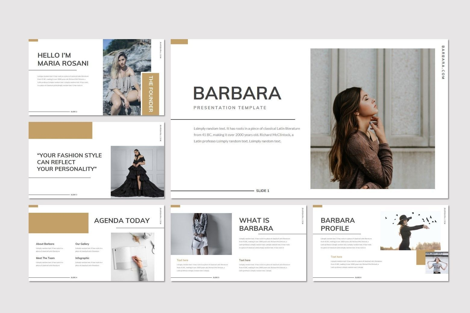 Barbara - Powerpoint Template, Slide 2, 07699, Presentation Templates — PoweredTemplate.com