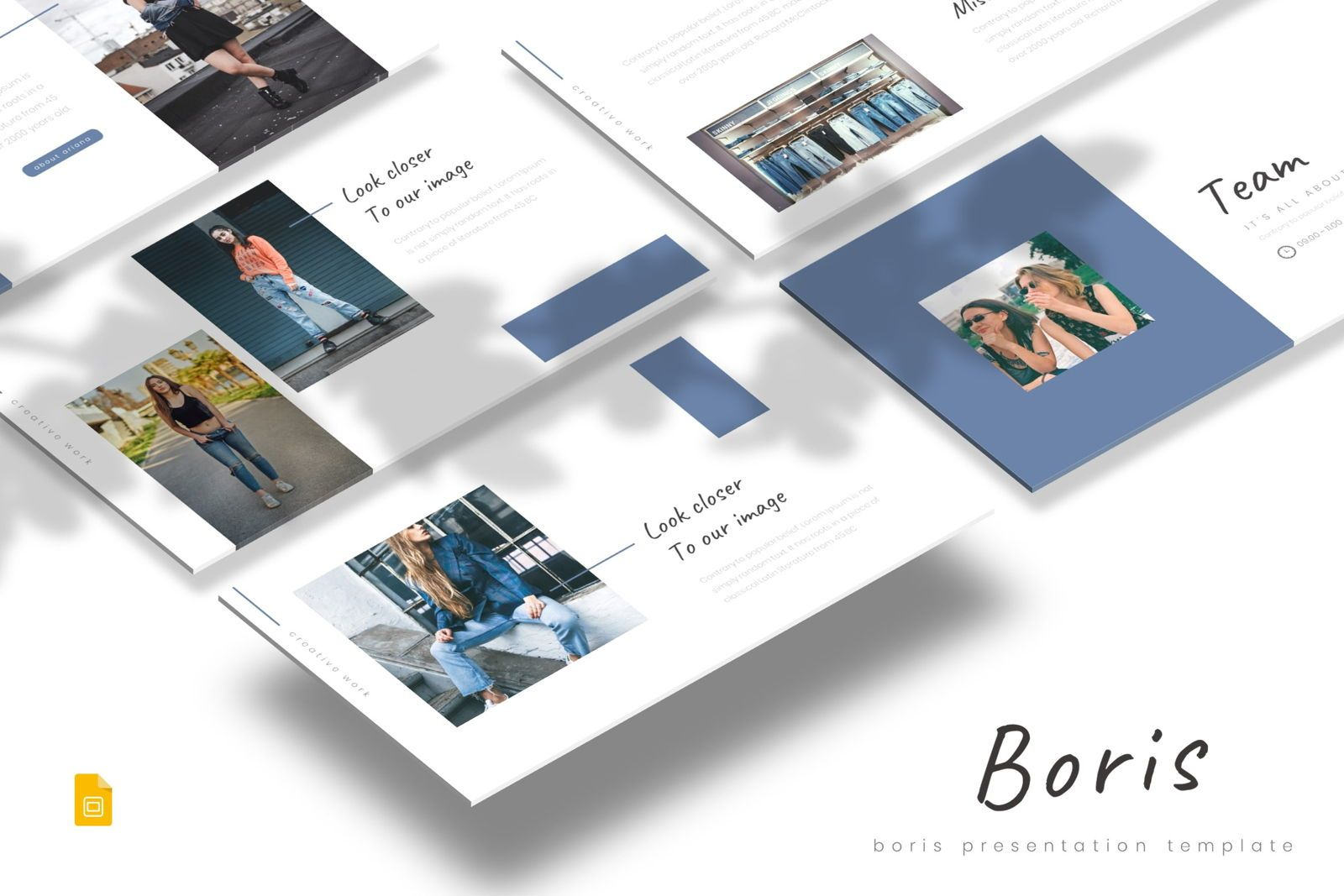 Boris - Google Slides Template, 07700, Presentation Templates — PoweredTemplate.com