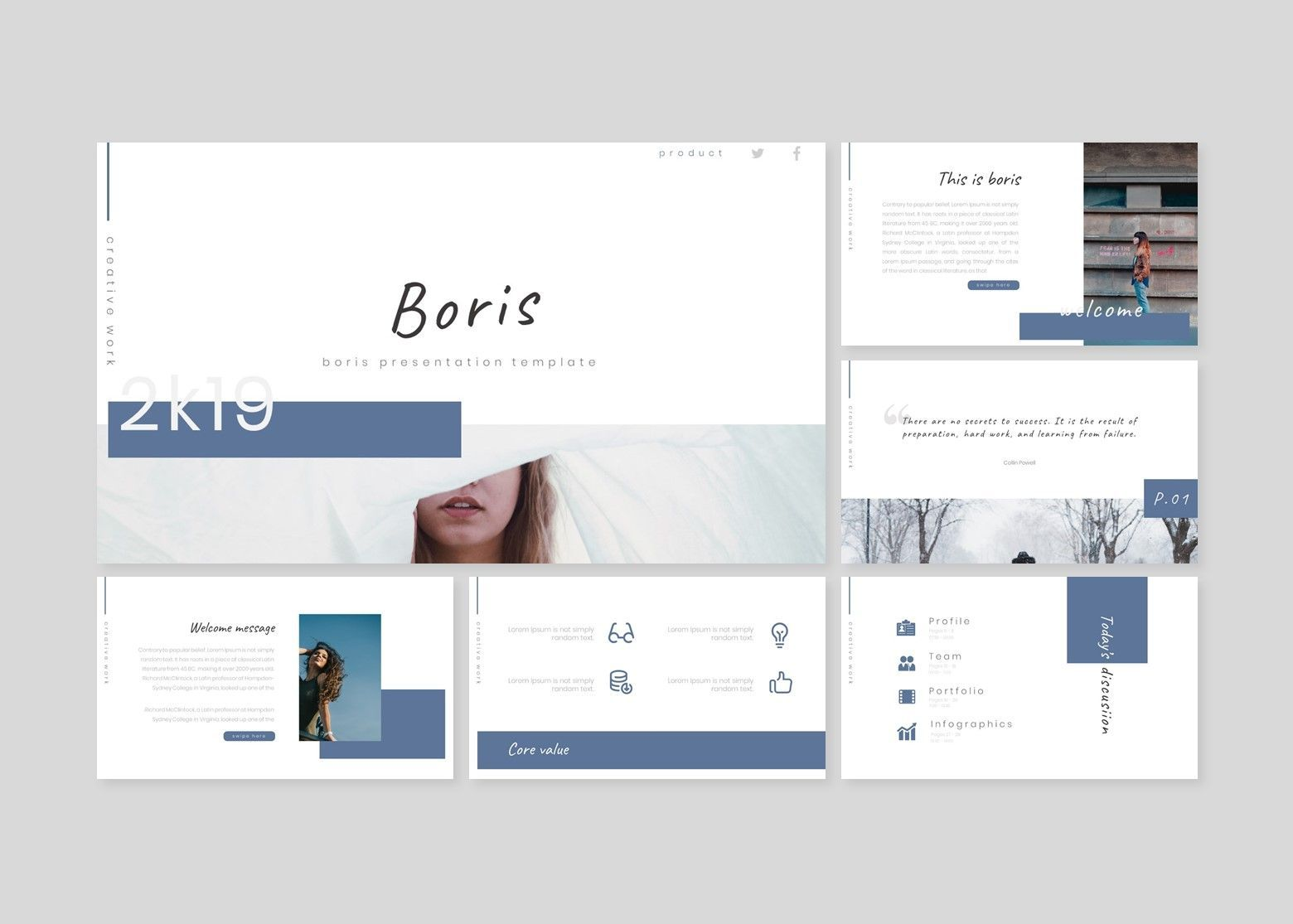 Boris - Google Slides Template, Slide 2, 07700, Presentation Templates — PoweredTemplate.com