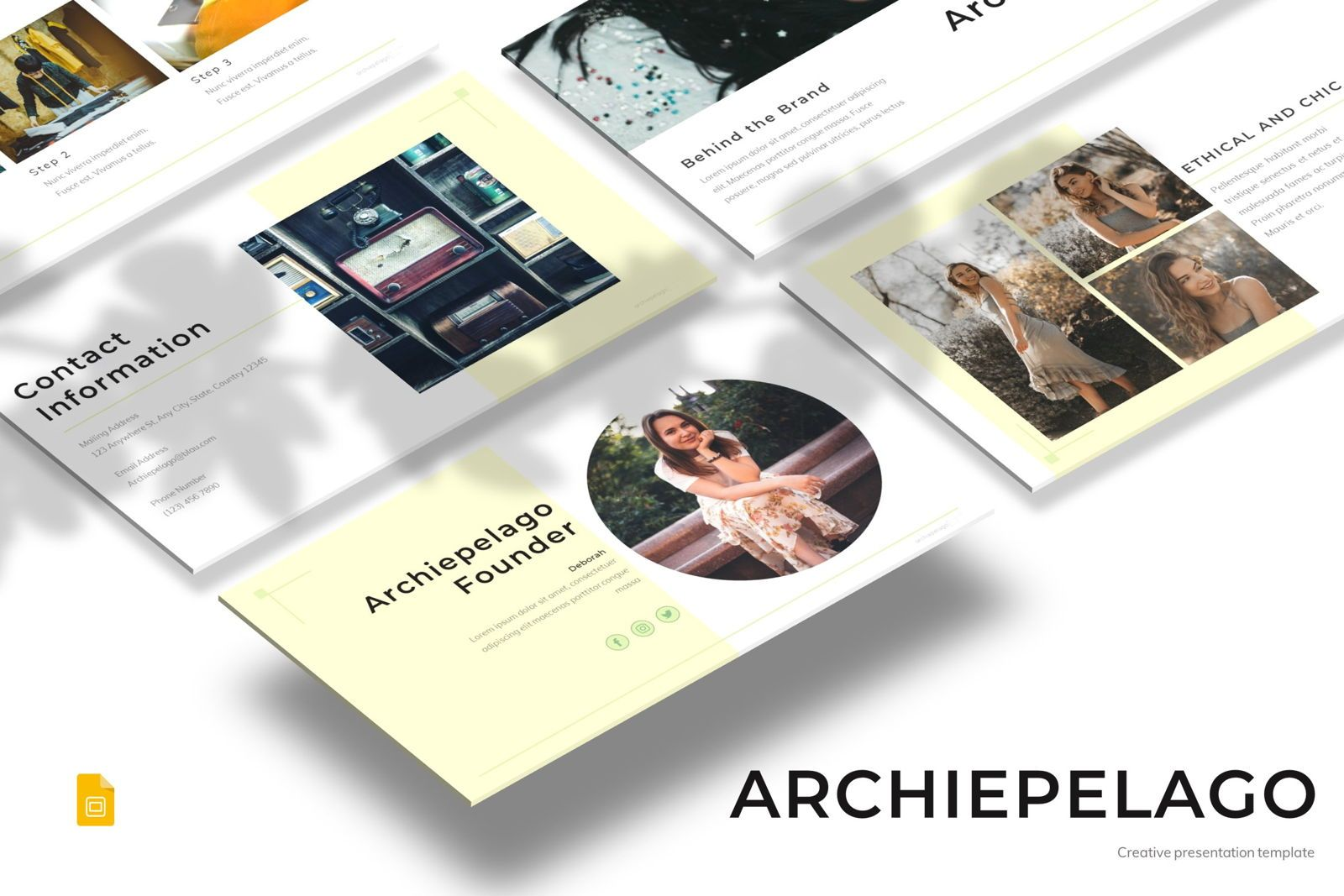 Archiepelago - Google Slides Template, 07701, Presentation Templates — PoweredTemplate.com