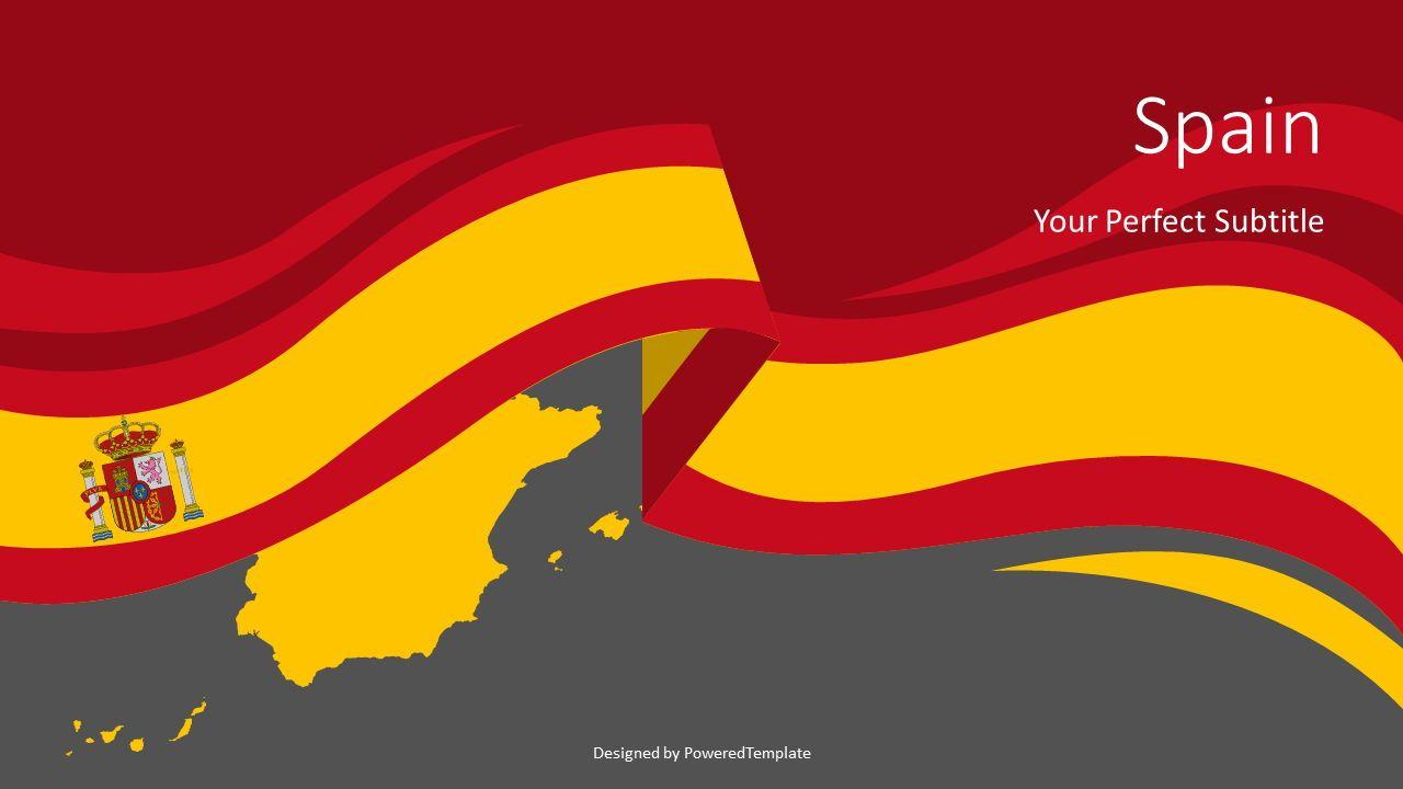 Spain Flag Cover Slide, Slide 2, 07702, Presentation Templates — PoweredTemplate.com