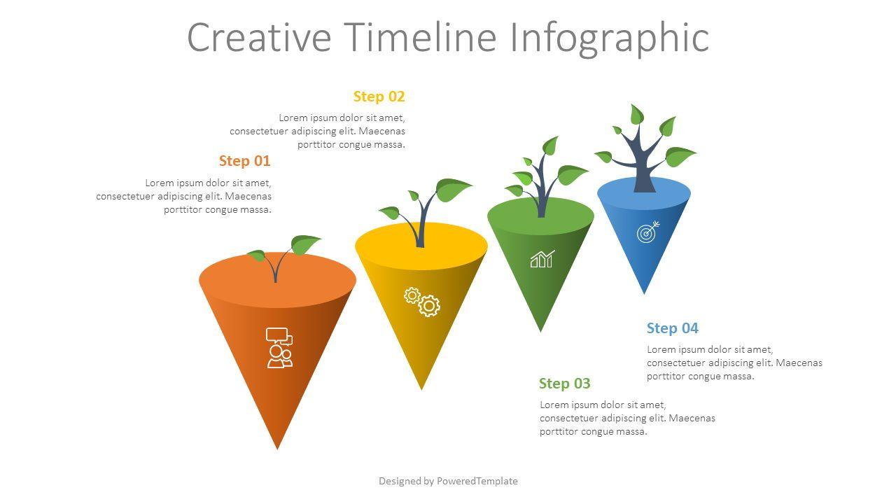 4 Growth Step Infographic, 07704, Infographics — PoweredTemplate.com