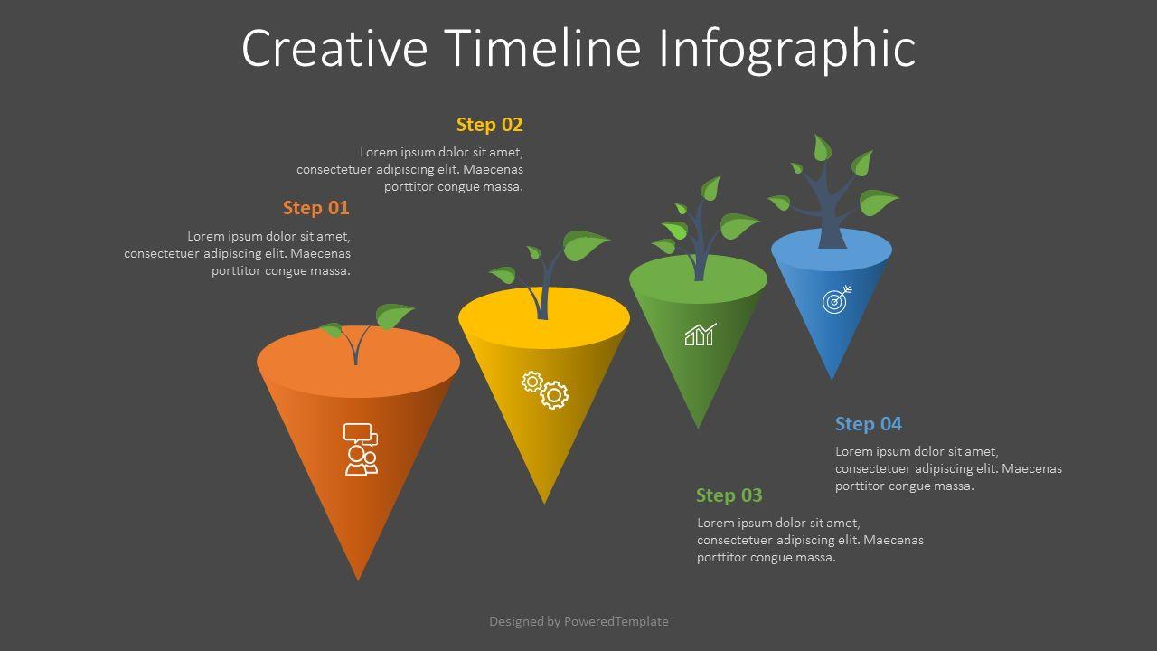 4 Growth Step Infographic, Slide 2, 07704, Infographics — PoweredTemplate.com