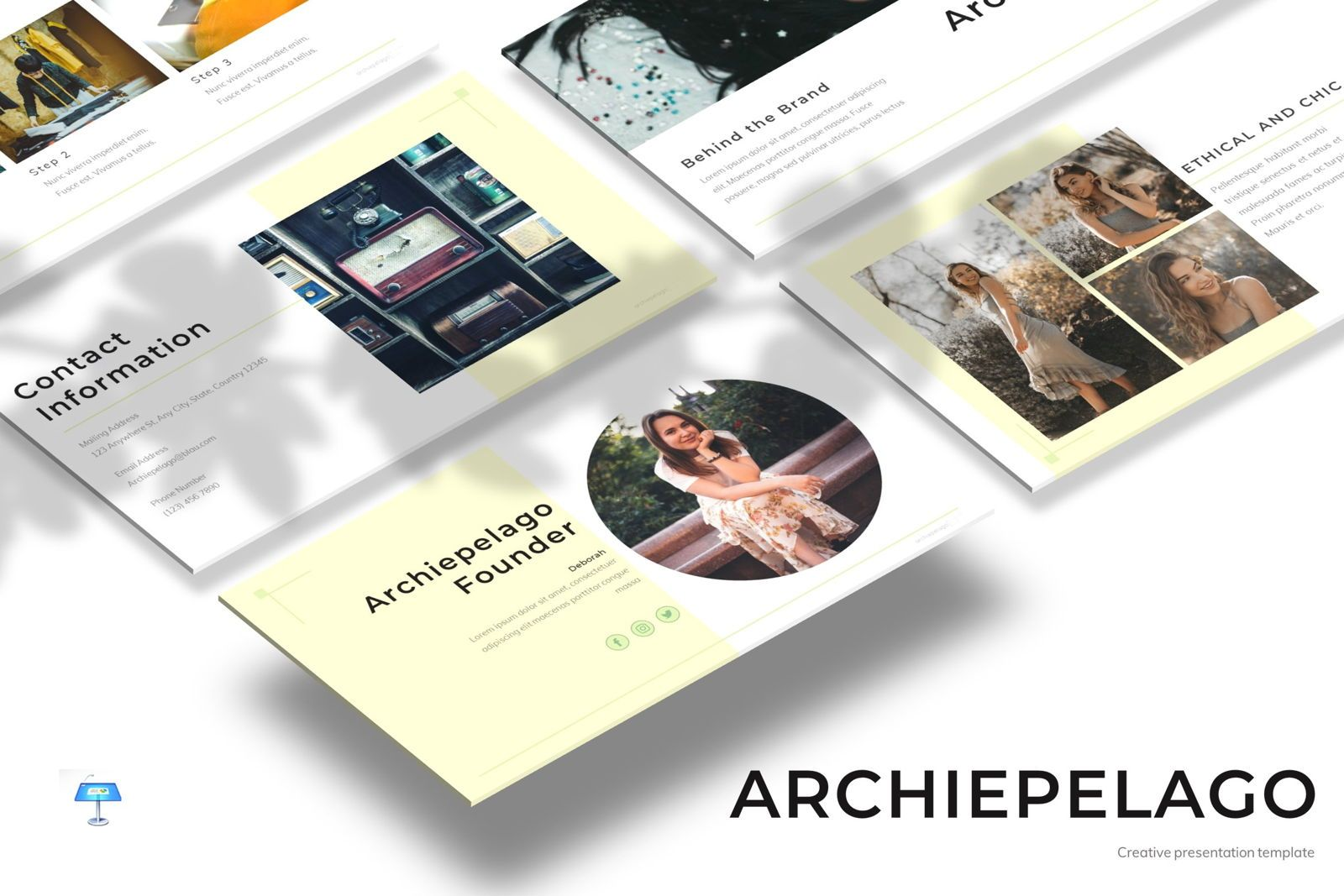 Archiepelago - Keynote Template, 07705, Presentation Templates — PoweredTemplate.com
