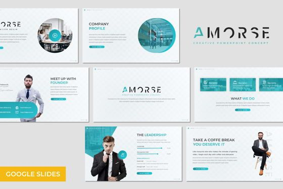 Presentation Templates: Amorse - Google Slides Template #07706