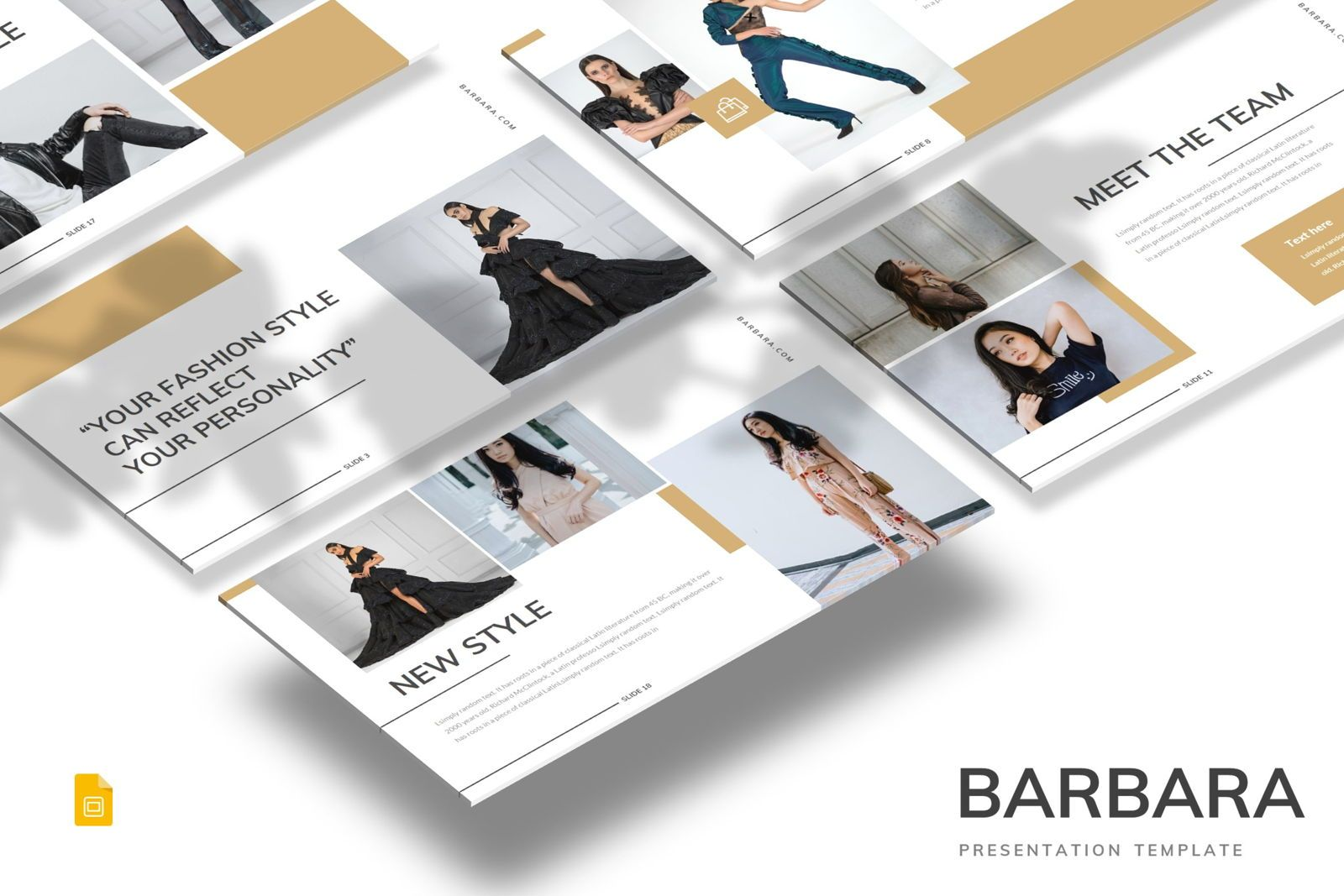Barbara - Google Slides Template, 07707, Presentation Templates — PoweredTemplate.com