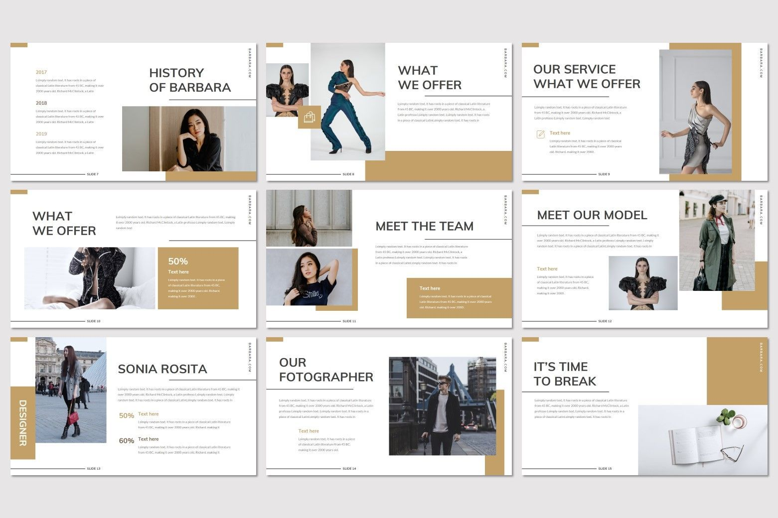 Barbara - Google Slides Template, Slide 3, 07707, Presentation Templates — PoweredTemplate.com