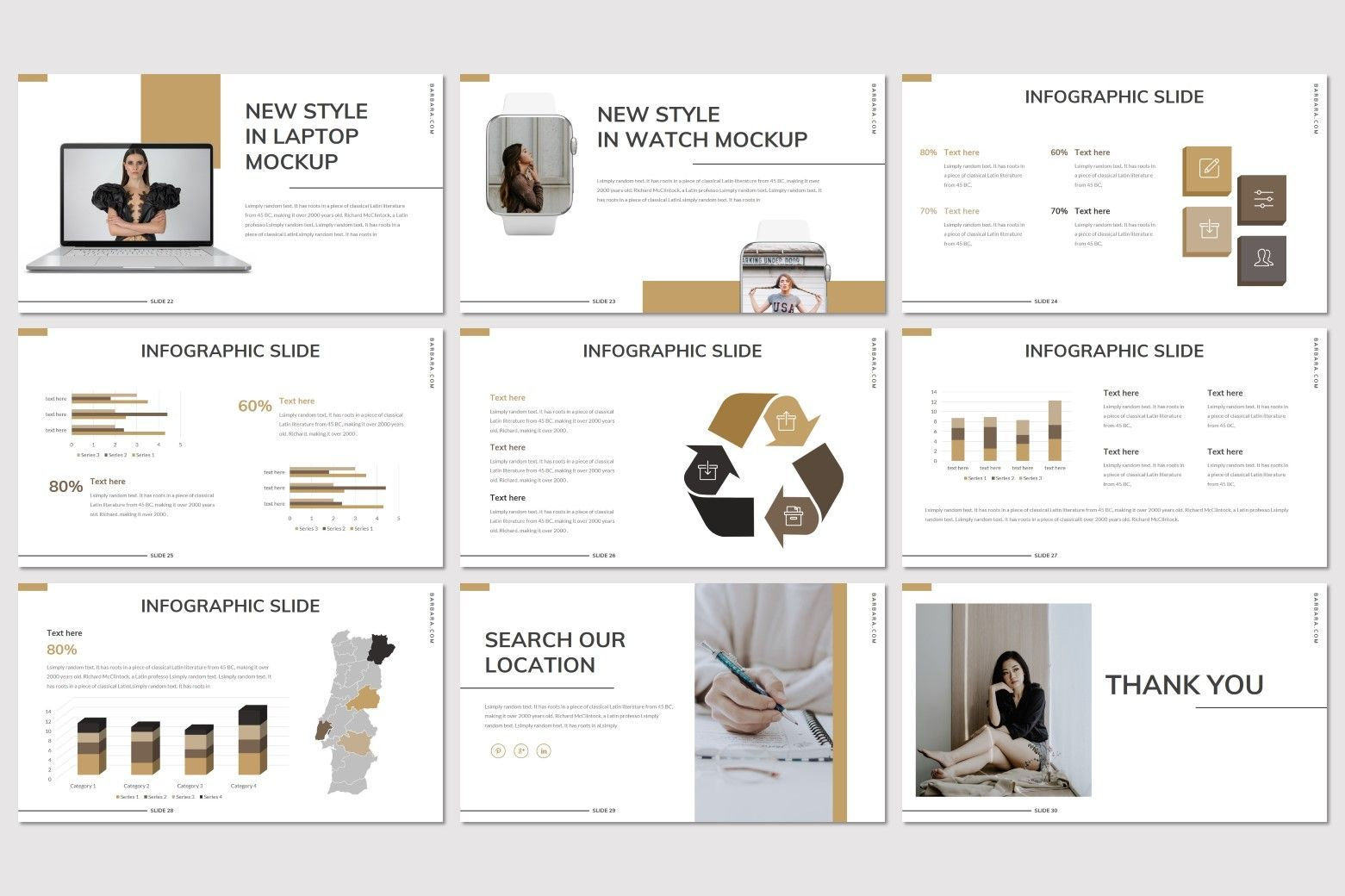 Barbara - Google Slides Template, Slide 5, 07707, Presentation Templates — PoweredTemplate.com
