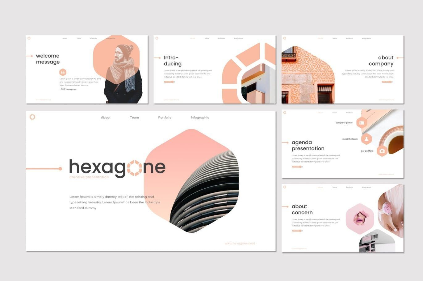 Hexagone - PowerPoint Template, Slide 2, 07711, Presentation Templates — PoweredTemplate.com
