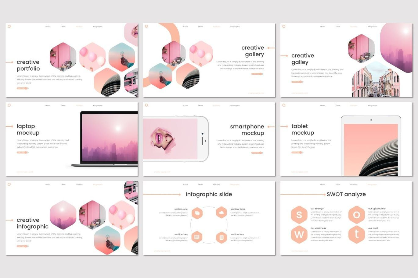 Hexagone - PowerPoint Template, Slide 4, 07711, Presentation Templates — PoweredTemplate.com
