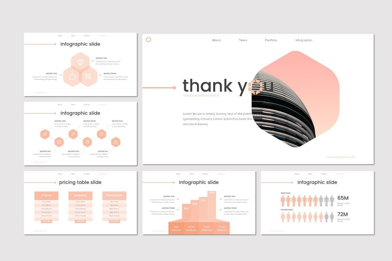 Hexagone - PowerPoint Template, Slide 5, 07711, Presentation Templates — PoweredTemplate.com