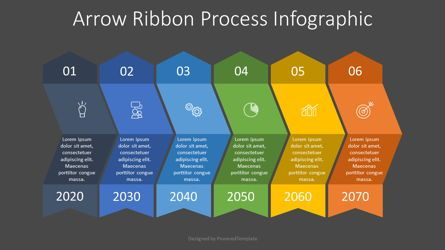 Process Diagrams: Arrow Ribbon Process Infographic #07718